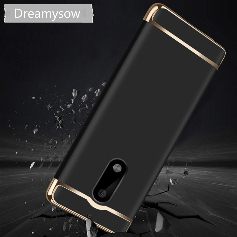 Dreamysow Luxury Removable 3 in 1 Hard Plastic Case For Nokia 6 Cover PC Plating Matte Back Cover 5.5 inch Case For Nokia 6