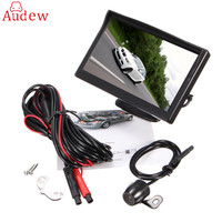 5 Inch TFT LCD Display Monitor Car Rear View Backup Reverse Monitor Screen HD Parking Camera