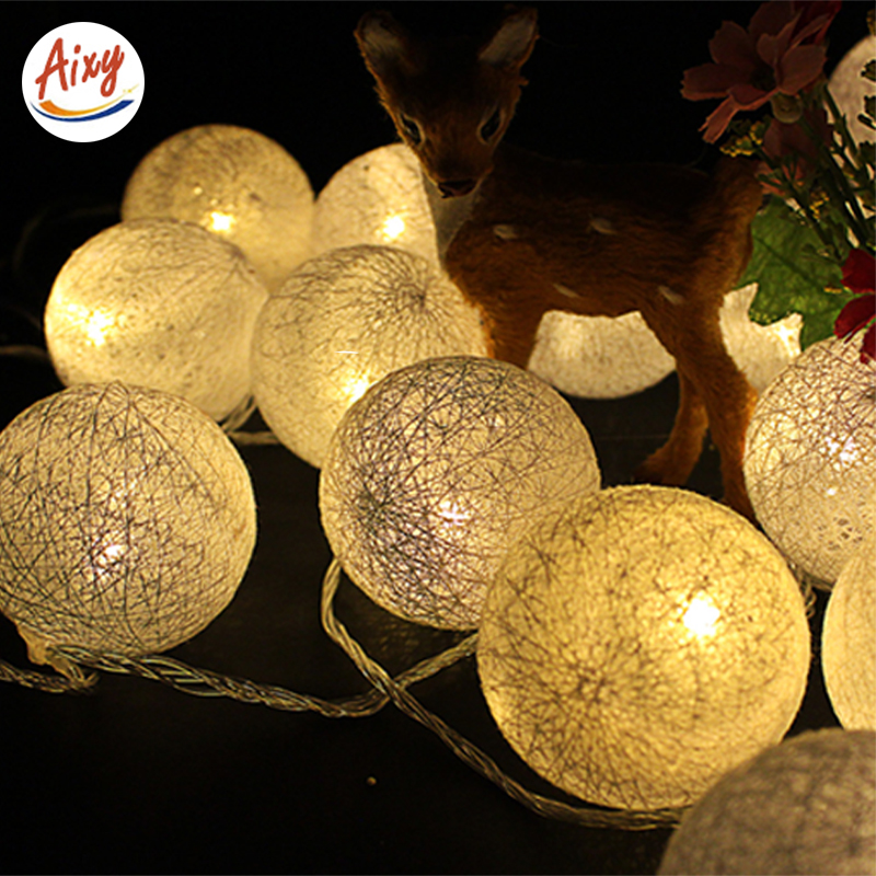 LED String Fairy Lights 2M 10LEDs 3AA Battery Powered Ball Shaped Christmas Holiday Wedding Decoration navidad party Lighting