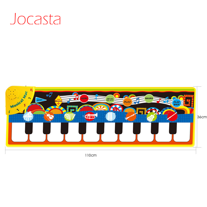 110*36cm Baby Musical Carpet Toys Children Play Mat baby Piano Music gift baby Educational Mat Electronic Toys for Kids