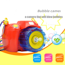 Hot Sale Bubble Camera Machine Funny Outdoor Game Musical Bubbles Brinquedos Kid Toys Birthday Gift For Children Boys Girls