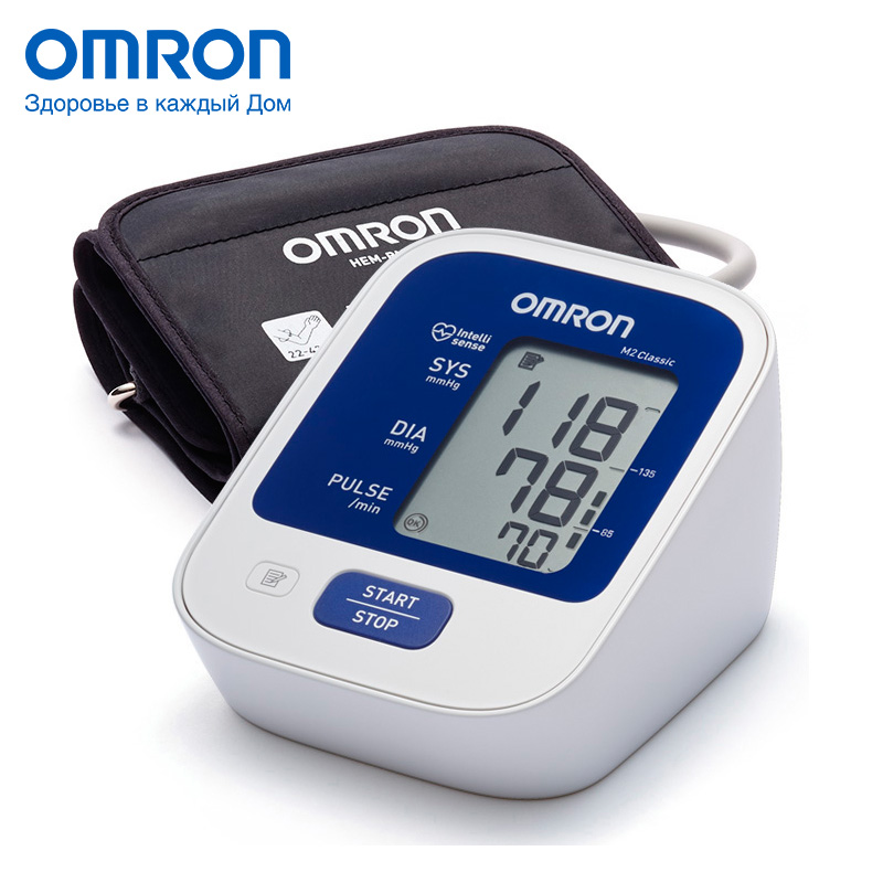 Omron M2 Classic (HEM-7122-ALRU) Blood pressure monitor Home Health care Heart beat meter machine Tonometer Automatic Digital omron m6 hem 7213 aru blood pressure monitor home health care monitor heart beat meter machine tonometer automatic digital