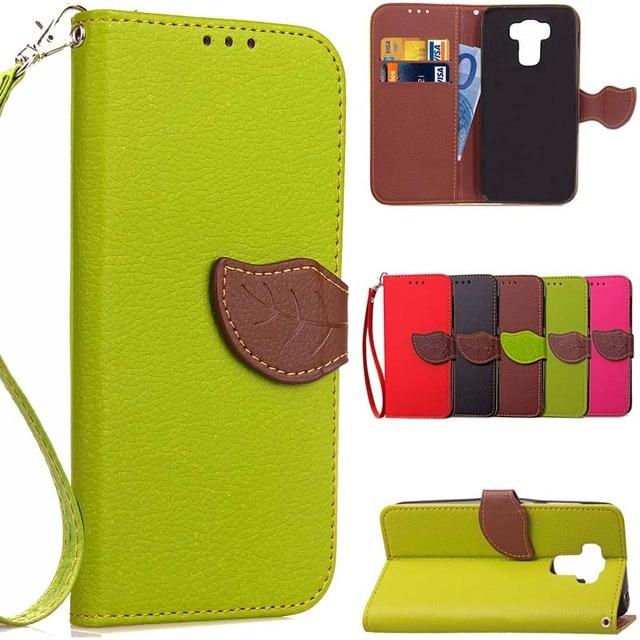 BEFOSPEY Leaf Leaves Leather Phone Case For Asus Zc553kl Luxury Elegant Full Protective Cover Cases Holster Bag For Asus Zc553kl