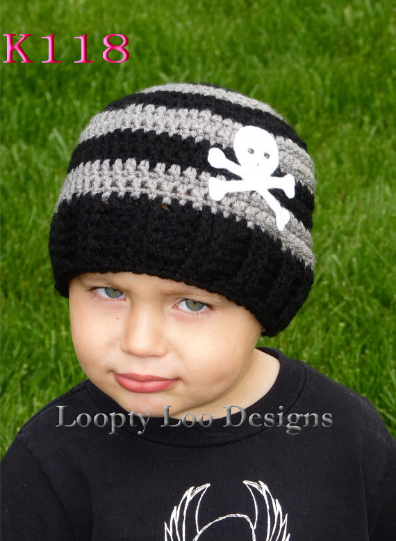 Crochet Newborn Hat, Baby Boy Beanie, Navy blue Beanie Skull Cap, Striped Beanie Hand crochet boy hat