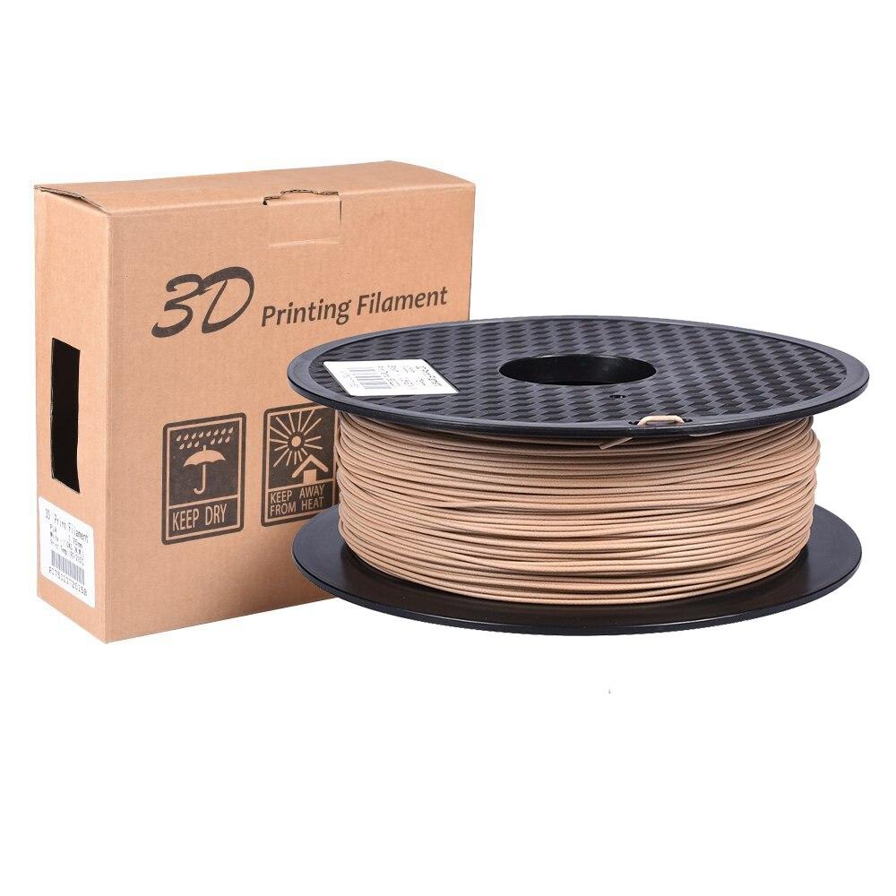 3D Printer Filament Wooden PLA Filament 1KG 1.75MM Wood Consumables Plastic Roll Material For MK8 Extruder Titan V6 Gen L RepRap