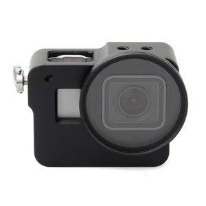 Image 4 - EACHSHOT Alüminyum Alaşım İskelet Kalın Katı ile Koruyucu Kılıf Kabuk için 52mm Uv Filtre Gopro Hero 7 6 5 kamera