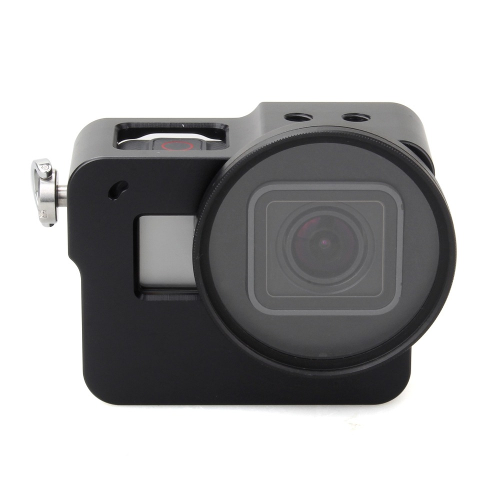 Image 4 - EACHSHOT Aluminium Alloy Skeleton Thick Solid Protective Case Shell with 52mm Uv Filter for Gopro Hero 7 6 5 Camera-in Sports Camcorder Cases from Consumer Electronics