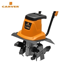 Mini electric cultivator CARVER T-300 E Walk-behind tractor Rotary cultivator Power cultivator Soil treatment Loosening the land