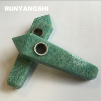 Tianhe Stone Smoking Pipe Natural Stones and Minerals with Strainer High Quality 1 Pc Smoke Pipe Wholesale Runyangshi YT40