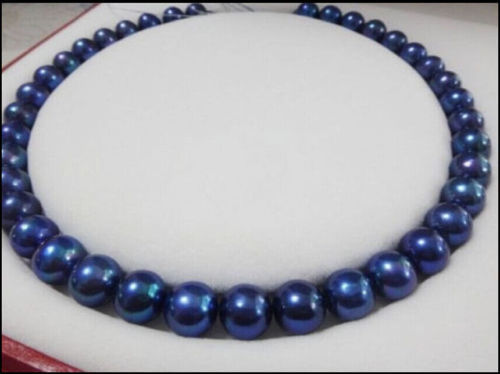 18 11-10 MM AAA SOUTH SEA NATURAL black blue PEARL NECKLACE  >>>Free shipping18 11-10 MM AAA SOUTH SEA NATURAL black blue PEARL NECKLACE  >>>Free shipping