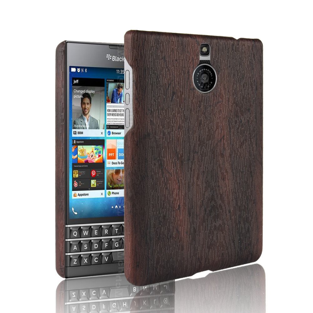 For <font><b>Blackberry</b></font> <font><b>Passport</b></font> <font><b>Silver</b></font> <font><b>Edition</b></font> <font><b>Case</b></font> PU Leather Hard Thin Slim Back Cover <font><b>Case</b></font> For <font><b>Blackberry</b></font> <font><b>Passport</b></font> 2 Wood Phone <font><b>Cases</b></font> image