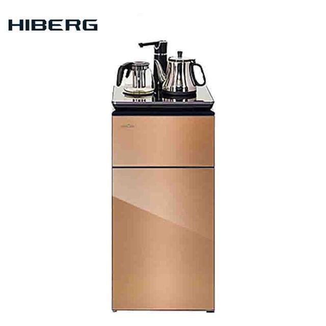 Кулер диспенсер для воды HIBERG F-91FGY с нижней загрузкой бутыли и сервировочной поверхностью, с электронным охлаждением и