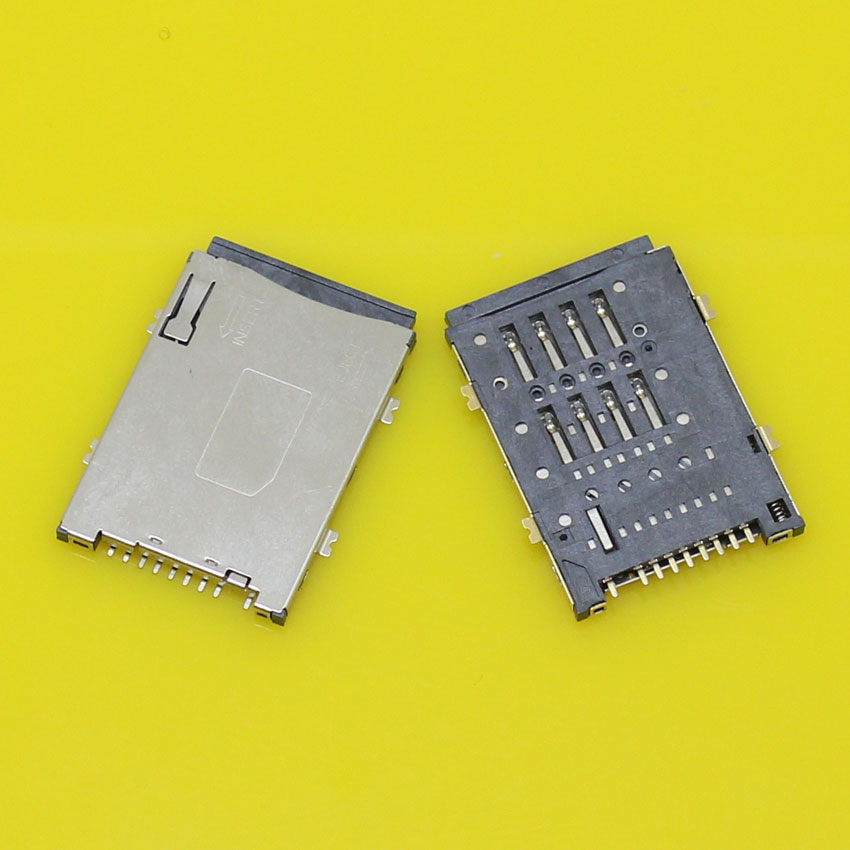 2pcs/lot Brand New 8+1P 4 feet sim card socket tray slot holder module.