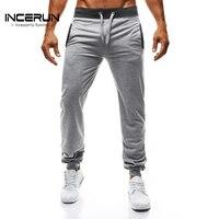 INCERUN 2017 Autumn Men S Casual Joggers Plain Sweatpants Trousers For Men Gyms Clothing Male Slim