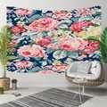 אחר כחול רצפת צהוב אדום ורדים צהוב פרחים 3D הדפסת דקורטיבי Hippi בוהמי קיר תליית נוף שטיח קיר אמנות