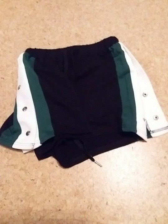SweatyRocks Side Striped Button Embellished Shorts Summer Elastic Waist Drawstring Shorts Women Black Colorblock Sporting Shorts