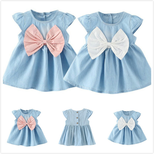 3cca6748 Party Princess Dresses Toddlers Women's Wear Summer Flying Sleeves  Butterfly Design Newborn Girls Princess Clothes
