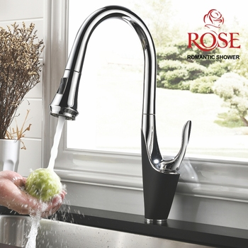 ROSE kitchen faucet, faucet tap sink mixer tap spray kitchen, retractable faucet, rain in the kitchen faucet with shower head R123H