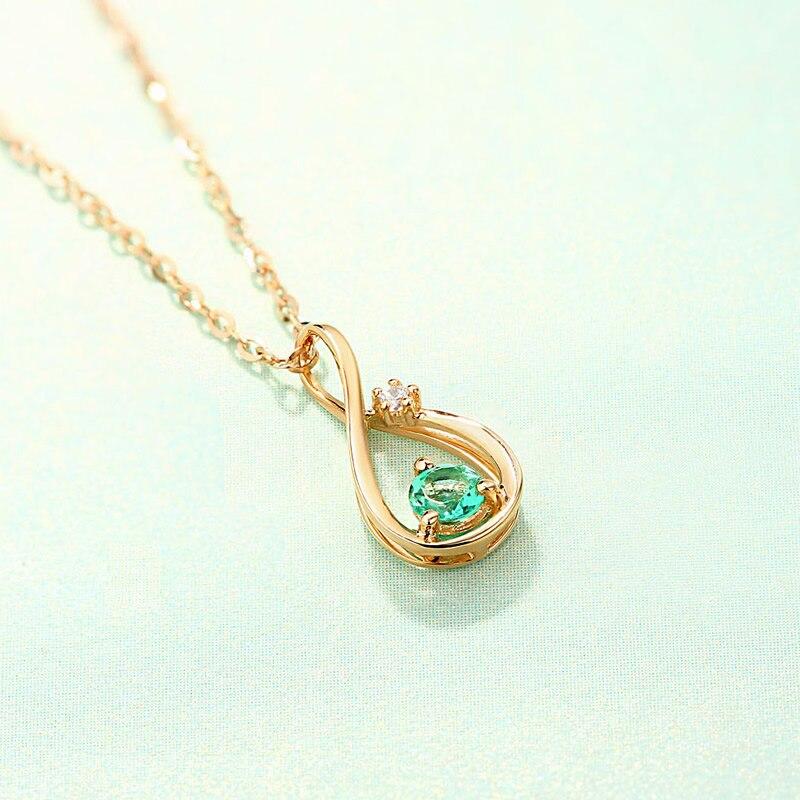ANI 14 karat Gelbgold Frauen Hochzeit Halskette Natürliche Smaragd Engagement collares Edelstein Schmuck Anhänger Halskette Kette-in Anhänger aus Schmuck und Accessoires bei  Gruppe 3
