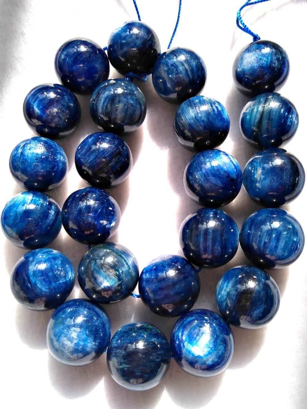 Grade AAAA Natural Kyanite Beads Round Blue Quartz Beads Roundness 4mm 6mm 8mm Bead 15 Full Strand Jewelry Gemstone Beads Wholesale B027