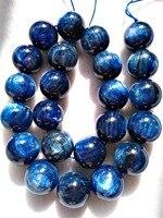 AAA Grade full strand 16 Genuine Blue Kyanite beads,Ball Round Beads,4mm 6mm 8mm 10mm 12mm 14mm 16mm for necklace bracelet