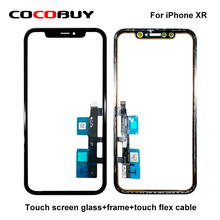 Novecel 3 in 1 iPhone XR 6.1inch glass with frame OCA cold press replacement touch screen outer lens repair