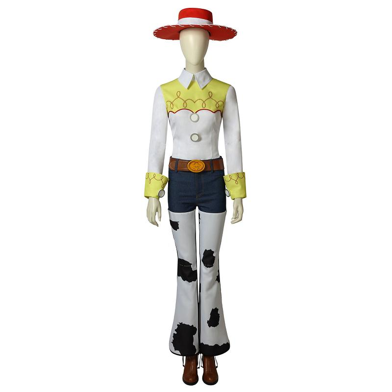 Toy Story Jessie Costume Cosplay Cowgirl Fancy Dress Costume Outfit Adult Women Halloween Party Full Set With Props Custom Made