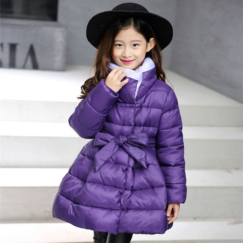 2017 High quality children winter jacket girl cotton shirt long warm up children outdoor snow coat 5 6 7 8 9 10 11 12 13 14 Y 4