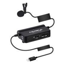 COMICA micrófono multifuncional CVM SIG.LAV V05 MI para iPhone XS max X 8 7 Plus, iPad con interfaz Lightning
