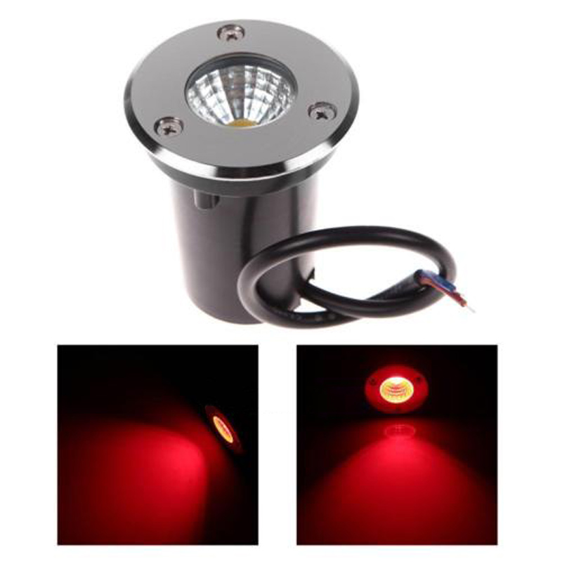 3W 3-LED Park Underground Light Buried Light Recessed Floor Outdoor Lamp