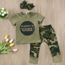 Baby Boy Girls Clothes Set Camo Outfits 0-24M