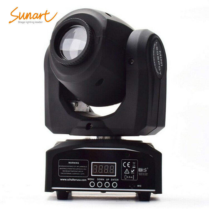 Free Shipping 30W Led Mini Spot Wash Beam Stage Effect Light For DJ Disco RGBW 4 In 1 Full Color DMX Moving Head Light