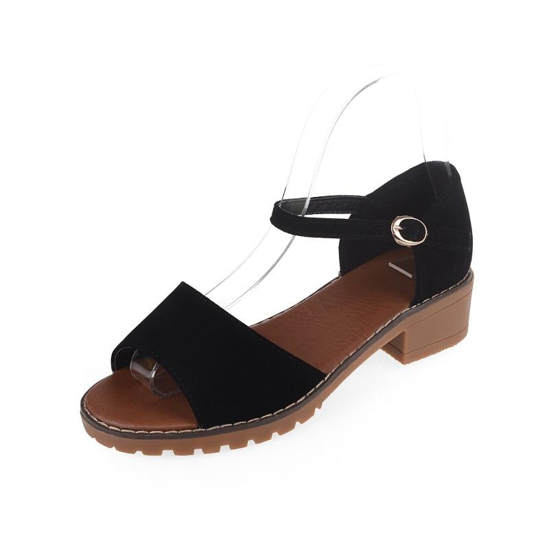 Online Get Cheap Black Mid Heel Sandals -Aliexpress.com | Alibaba ...