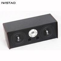 Iwistao пассивный деревянный центральный динамик 4 Ом 60 Гц 20 кГц 5,25 дюйма и 1 дюймовый динамик