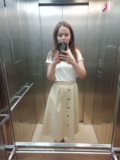 Button Midi Skirt Women Spring Summer Casual Knee Length High Waist Pocket Skirt  Female Korean Washed Cotton A Line Skirt photo review
