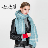 XIANXIANQING Cleanlily Lady Shawls Winter Solid Women Scarf Sweet Capes Faux Cashmere Scarves For Womens Lady