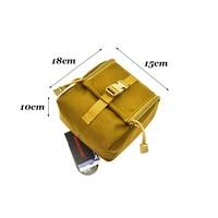 1000D Tactical Pouch MOLLE Durable Mobile Phone Case EDC Molle Pouch Tool Bag Zipper Closure Webbing Waist Pack TW P028