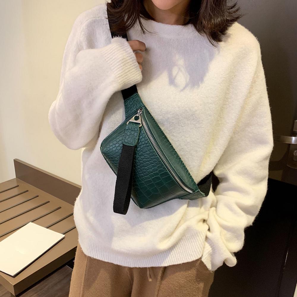 Women Bag Crocodile Multicolor Messenger Chest Bag Clutch Waist Fanny Belt Packs Leather Handbag Crossbody Bag