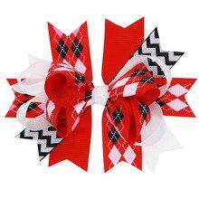 20 шт. банты для волос неограниченный шеврон двойной завязанный бант ассортимент Школьный бант для волос