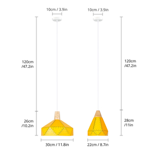 Image 5 - PHYVAL Pendant Light Modern E27 Macron Color Pendant Lamp Wood Iron Lampshade Cable 1.2m Pendant Lamp For Bedroom