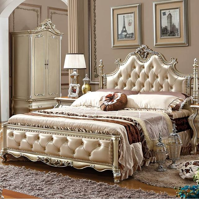 Antique Royal European Style Bedroom Furniture Classic Bed Set - Antique Royal European Style Bedroom Furniture Classic Bed Set-in