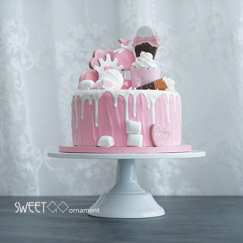 Grand boulanger gâteau stand blanc mariage gâteau outils fondant cuisson gâteau décoration fournitures dessert table pops