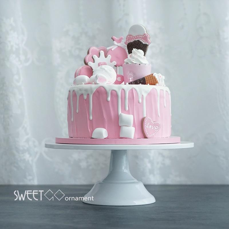 Grand baker cake stand white wedding cake tools fondant bakeware cake decorating supplies dessert table pops
