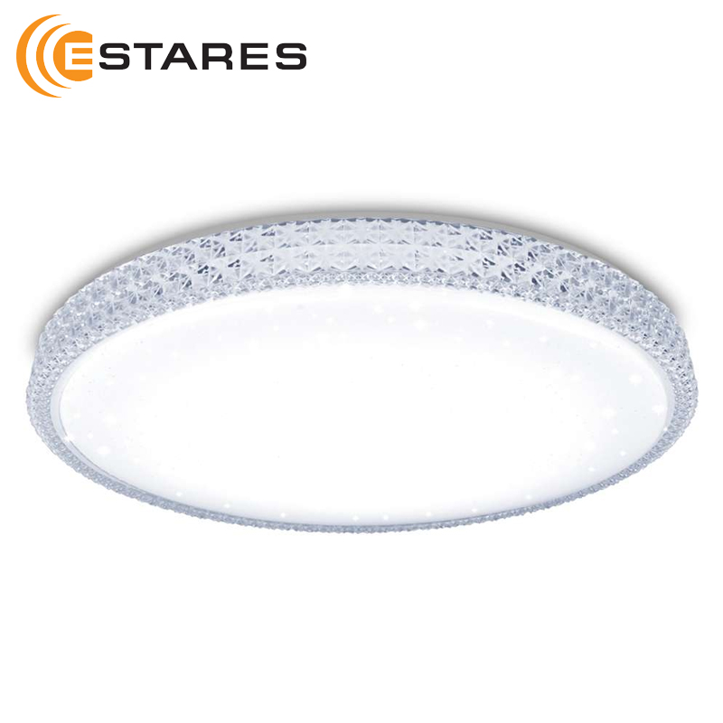 Controllable LED Ceiling Light PLUTON 60 W R-520-SHINY-220V-IP44 4900лм D520хh95 Estares hydroponic led grow full spectrum 100w r b o w uv ir 100pcs led plant grow light for flower vegetable