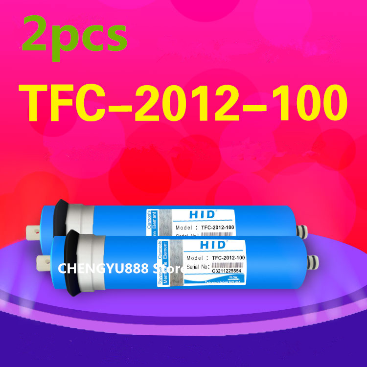 2pcs 100 gpd reverse osmosis filter HID TFC-2012-100G Membrane Water Filters Cartridges ro system Filter Membrane вытяжка indesit h 161 2 wh