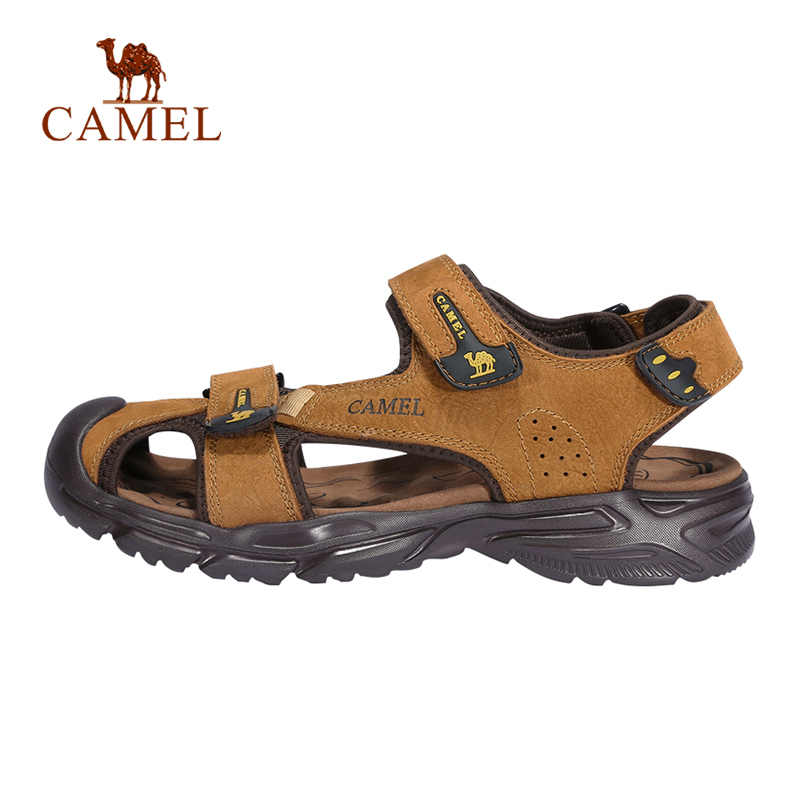 CAMEL New Men Genuine Leather Casual Outdoor Sandals Light