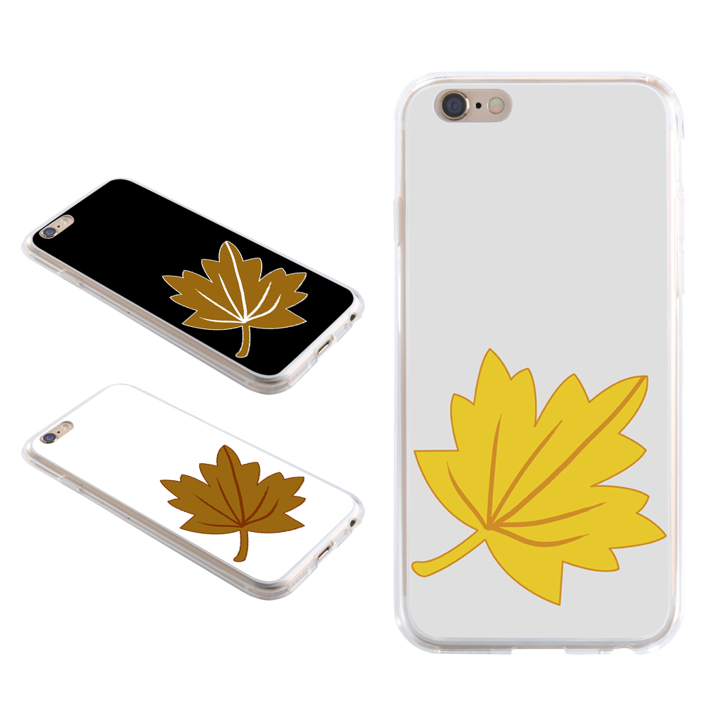Line Leaf Print Phone Case Cover for iPhone X 8 for Samsung S8 for Huawei P9 for Xiaomi