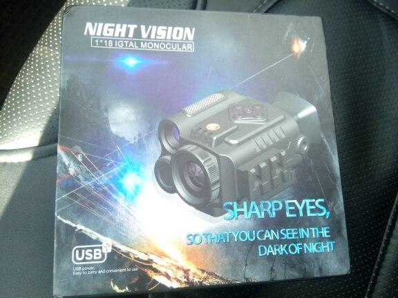 Visões noturnas função Câmera infravermelha