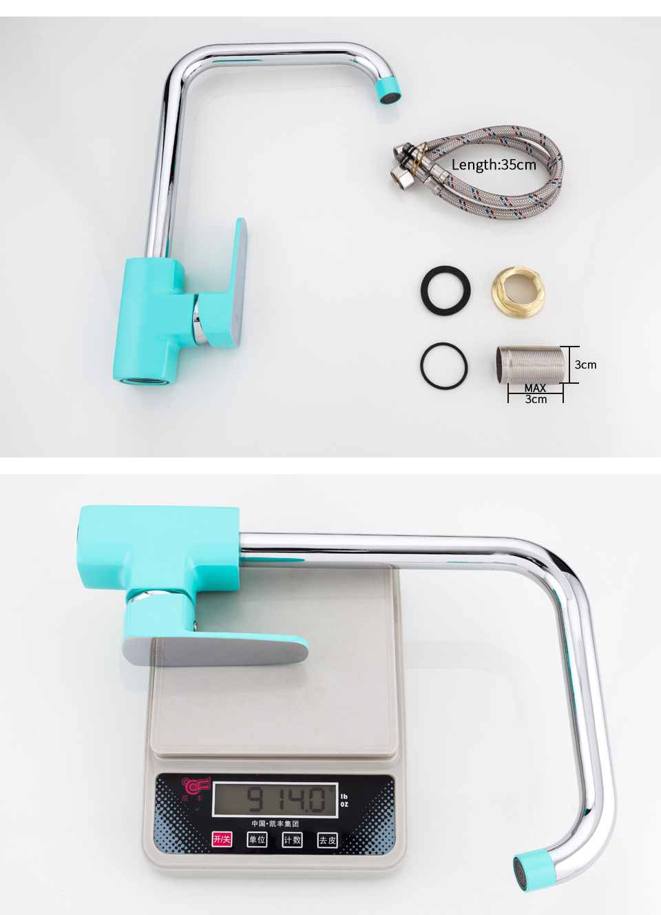 green kitchen faucets 10