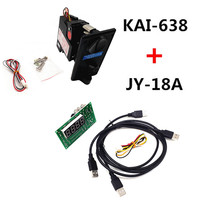 Plastic front plate KAI 638 CPU coin selector acceptor with JY 18A USB timer board for